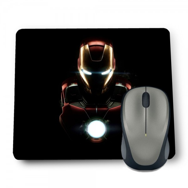 IRONMAN IN BLACK MOUSE PAD