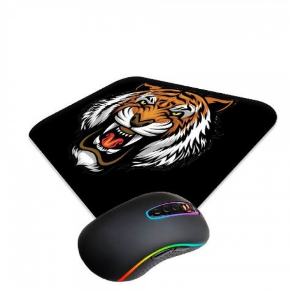 TIGER ANGRY FACE MOUSE PAD