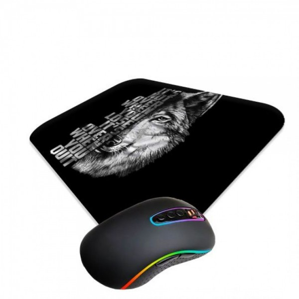 WOLF And  QUOTES MOUSE PAD