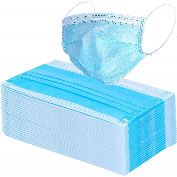 3 Ply Meltblown Disposable Surgical face Mask with filter Pack of 50