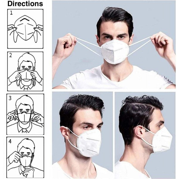 N95 Reusable Mask Anti Air Pollution Face Mask With 5 Layer