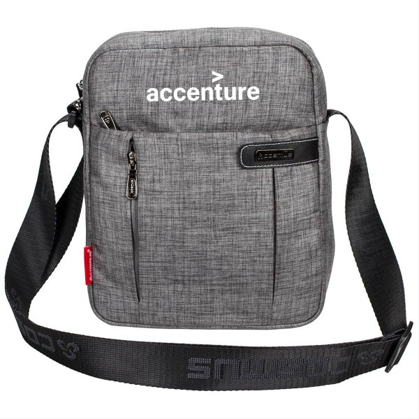 Customised Printed Travel Sling Bag - Grey