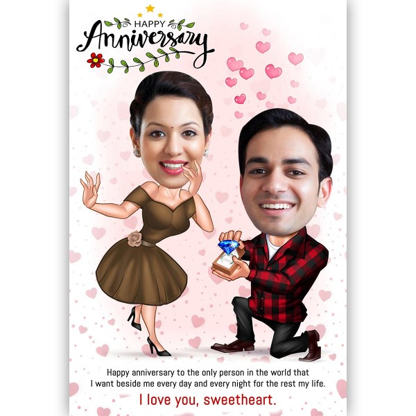 Personalised E-Caricature for Anniversary Theme 4