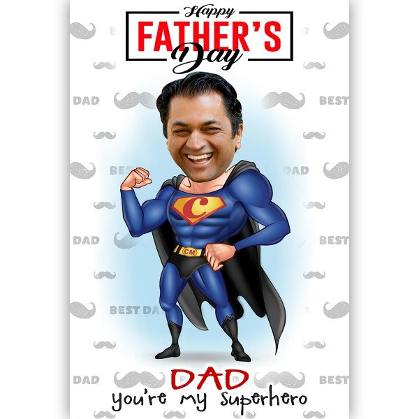 Personalised E-Caricature for Father's Day Theme 1