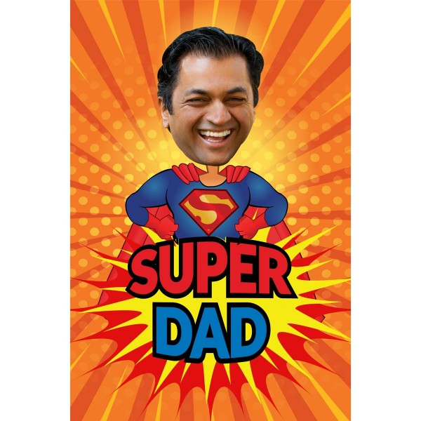 Personalised E-Caricature for Super Dad