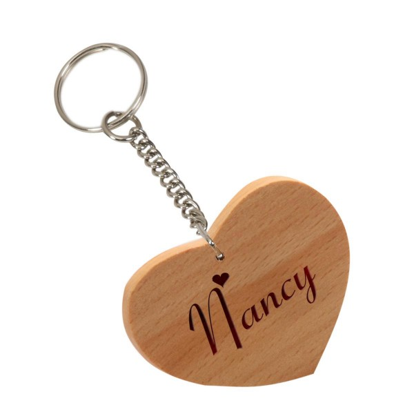 Custom Laser Engraved wooden key chain