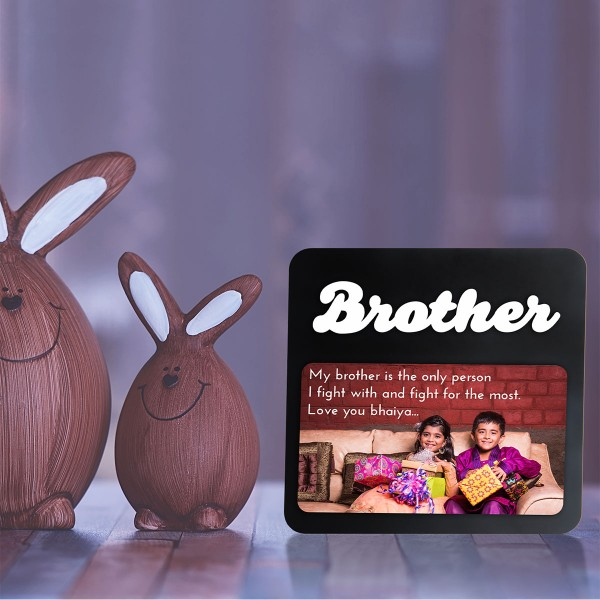 Brother WOODEN PHOTO FRAME WITH FIXED TITLE PLAQUE