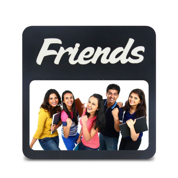 Friends WOODEN PHOTO FRAME WITH FIXED TITLE PLAQUE