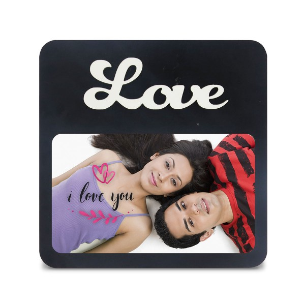 Love Wooden Photo Frame with Fixed Title Plaque