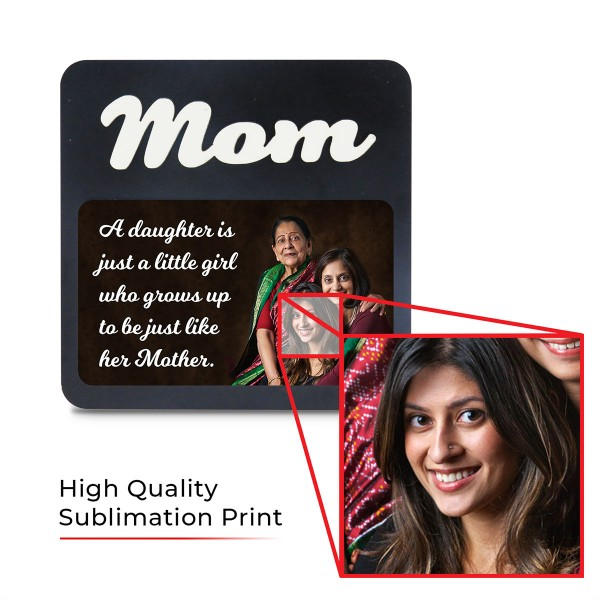 Moom WOODEN PHOTO FRAME WITH FIXED TITLE PLAQUE