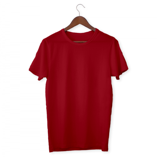 Red Plain Unisex Half Sleeve T-Shirt