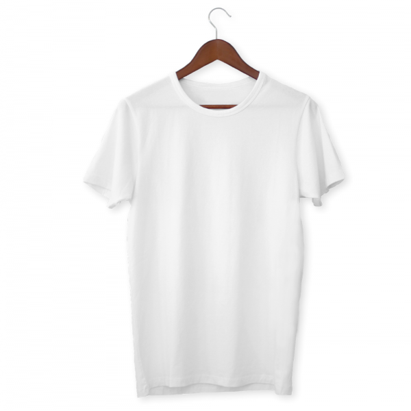 White Plain Unisex Half Sleeve T-Shirt